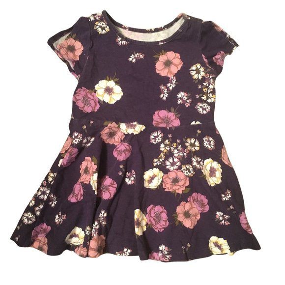 Children's Place Purple Flower Dress. Size 2T.
